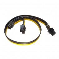 Cablu PCI-E 6 pin la 2 x 6+2 pin alimentare GPU