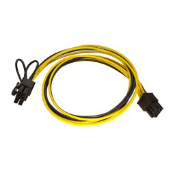 Cablu PCI-E 6 pin la 6+2 pin alimentare GPU