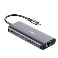 Hub adaptor Motrix® USB Type-C la 1xHDMI, 1xRJ45 Gigabit Ethernet, 2xUSB3.0, 1xPower Delivery 3.0, 1xSD card reader, 1xMicro SD card reader