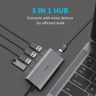 Hub adaptor Motrix® USB Type-C la 3xUSB2.0, 1xUSB3.0, 1xPower Delivery