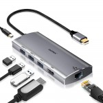 Hub Motrix® USB Type-C, 1xHDMI, 3xUSB3.0, 1xPower Delivery, 1xGigabit Ethernet RJ45, pentru MacBook Pro, MacBook Air