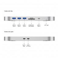 "HDD Docking Station & Hub Thunderbolt Pro Motrix® 2xUSB 3.0 Type-A, 1xUSB 3.1 Type-A, 1xUSB 3.1 Type-C, SD card reader, Micro SD card reader, 1xSlot 2,5"" SDD/HDD, 1xSlot M.2 NVME/NGFF SSD pentru Apple M1 Mac Mini"