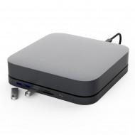 "HDD Docking Station & Hub Thunderbolt Pro Motrix® 2xUSB 3.0 Type-A, 1xUSB 3.1 Type-A, 1xUSB 3.1 Type-C, SD card reader, Micro SD card reader, 1xSlot 2,5"" SDD/HDD, 1xSlot M.2 NVME/NGFF SSD pentru Apple Mac Mini Space Grey"