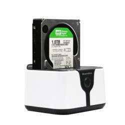 "HDD Docking Station Dual Bay 2.5""/3.5"" SATA la USB 3.0, functie back-up si clonare"